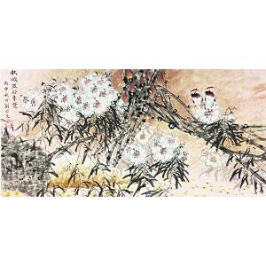 刘容生《花鸟图》著名画家