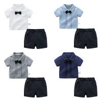 男童夏装短裤子套装婴儿短袖t恤1岁6个月3宝宝衣服