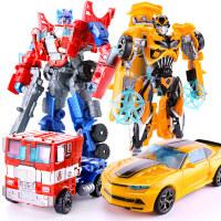 【支持礼品卡】变形玩具金刚5大黄蜂汽车机器人手动警车男孩儿童模型恐龙正版4小 1rn