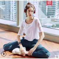 运动上衣女罩衫宽松网眼镂空户外新品健身透气跑步短袖瑜伽服速干T恤
