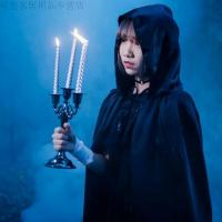 万圣节服装男女巫披风儿童cos巫婆黑死神斗篷吸血鬼化妆舞会万圣节派对新款