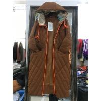 L1羽绒服女款中长款冬季新韩版时尚撞色拉链过膝连帽韩国0.65