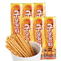 韩国进口零食 海太烤薯条原味27g*6盒 烤薯棒土豆条膨化小吃包邮