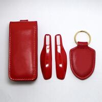 钥匙包套装扣卡宴帕拉金属漆梅拉保时捷改装汽车钥匙包钥匙保护宝骏改装驾驶证红色
