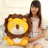 婚庆娃娃毛绒玩具雷欧狮子大号公仔玩偶抱枕靠枕儿童礼物生日礼品
