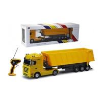 超大型奔驰运输卡车2.4G遥控翻斗充电儿童玩具自卸货柜车男孩模型