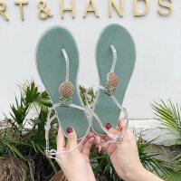 户外时尚仙女风凉鞋女外穿韩版单鞋罗马夹趾平底鞋
