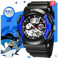 儿童手表电子表男学生夜光防水儿童手表中学生男生手表时尚学生手表小男孩手表支持礼品卡支付