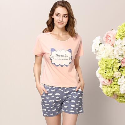 【满1件5折】【都市丽人】睡衣女士商场同款可爱甜美风舒适透气时尚家居服BH7217