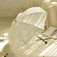 日本超轻小折叠蕾丝花边太阳伞女防晒防紫外线遮阳伞女神公主洋伞
