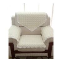单人沙发坐垫扶手靠背巾套会议接待室布艺皮沙发坐垫防滑四季细麻