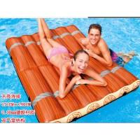 NTEX木筏双人浮排 充气浮床 水床 沙滩海滩垫 水上气垫