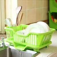七夕礼物 新款厨房带盖放碗箱晾碗架 沥水碗柜碗盒餐具收纳盒整理架 橱柜碗碟筷收纳架 浅绿色