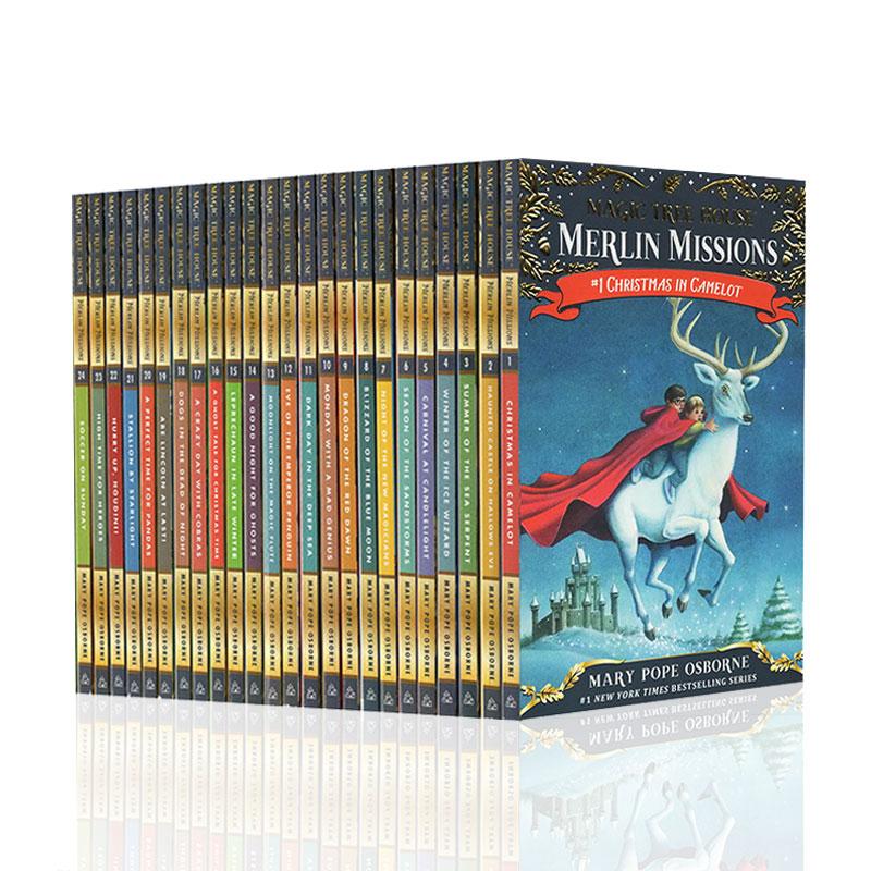 Magic Tree House 神奇树屋英文原版第29-52本套装少儿经典桥梁书 中小学儿童章节书经典科普读物 此套装为神奇树屋 29-52,1-28的续集