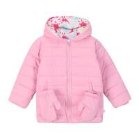 【折后叠券】361度童装儿童2020冬季新品女童棉服加厚保暖外套K61844803