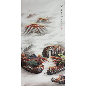 活画泰斗 国礼艺术家吴增 风水宝地  夜显财神