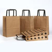 牛皮纸袋手提袋 礼品袋 纸袋定做 包装袋服装袋批发 纸袋子现货
