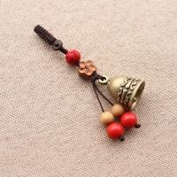 手工黄铜莲花铃铛汽车钥匙扣挂件创意复古保平安包包挂件 梅花铃铛