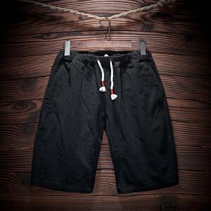 休闲时尚男短裤修身五分裤夏季沙滩