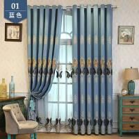 阳台遮阳欧式窗帘成品高遮光窗帘布简约现代卧室落地窗客厅平面窗