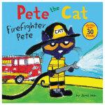 【预订】Pete the Cat: Firefighter Pete,皮特猫:消防队员皮特 英文原版儿童桥梁书 适合5