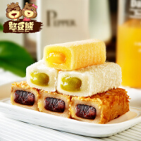 憨豆熊 抹茶味麻薯210g*3袋 零食糕点