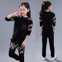 童装女童秋装套装两件套春秋儿童8中大童9运动10衣服12岁