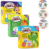 家长阅读指导3册合售 英文原版 First Little Comics Parent Pack Levels A-E