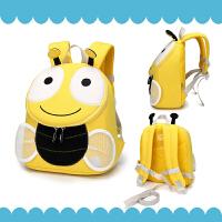 儿童出游书包女宝宝1-3岁可爱小蜜蜂背包婴幼儿园防走失男女童包