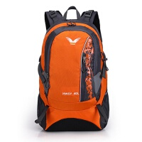 七夕礼物2016新款时尚运动登山包 防水尼龙旅行包男女通用 橘色