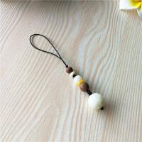 中国风菩提根祥云手机挂绳短款创意手机U盘挂件个性饰品简约挂绳