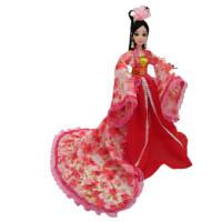 古装芭芘比公主衣服洋娃娃套装礼盒罗利古代衣服巴比关节女孩玩具