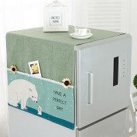 韩版田园冰箱罩单开双开冰箱滚筒洗衣机盖布多用盖巾