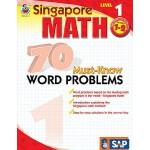英文原版 新加坡数学70道必会应用题,第1级,1-2年级 Singapore Math 70 Must-Know Wo