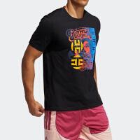 Adidas阿迪达斯男子2021篮球运动短袖T恤GP3429