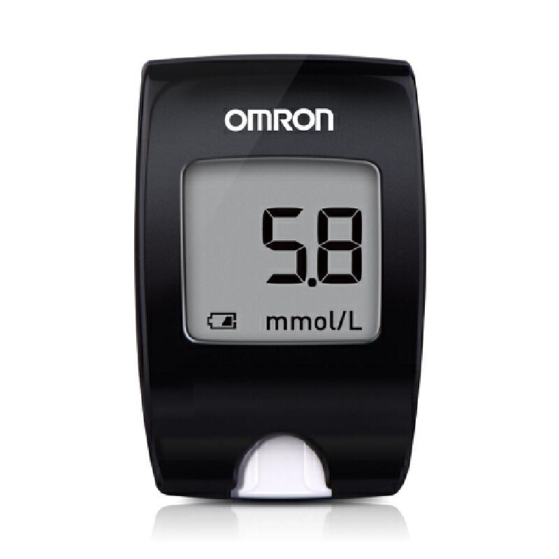 欧姆龙(OMRON)电子血糖仪套装 HGM-112(25)25条试纸 套装精细小巧便携,免调码测量准,大屏幕显示