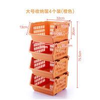 家居新品厨房收纳筐塑料整理箱可叠加收纳箱日系果蔬篮整理架