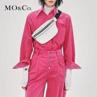 MOCO秋季新品翻领灯芯绒工装风格两穿衬衫MA183SHT104 摩安珂