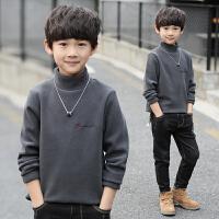 男童加绒长袖t恤儿童高领打底衫男孩上衣潮冬装