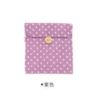 韩版可爱布艺清新波点棉麻卫生棉包/卫生巾收纳包卫生棉袋 12.5*12.2cm