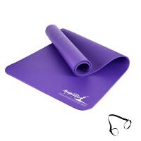 运动配饰瑜伽垫加长瑜伽防滑健身垫子初学10MM垫子加厚加宽无味瑜珈垫 10mm(初学者)