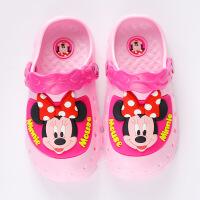 迪士尼儿童凉拖鞋洞洞鞋夏季男女童卡通沙滩拖鞋防滑浴室拖鞋轻便