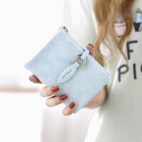 钱包女短款女士钱包日韩版可爱卡通叶子搭扣学生潮钱夹零钱包