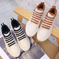 环球棉鞋女2017冬季新款休闲加绒保暖韩版百搭学生板鞋休闲小白鞋