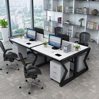 职员办公桌单人位电脑桌椅组合柜子简约现代家具2/4/6工作位屏风
