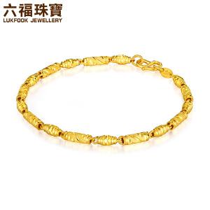 六福珠宝足金手链女款橄榄珠黄金路路通手链 B01TBGB0028