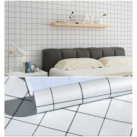 黑白格子自粘墙纸现代壁纸卧室客厅背景墙贴学生宿舍寝室家具贴纸 大