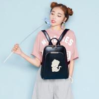 背包女士双肩包韩版pu皮时尚潮书包 简约旅游包