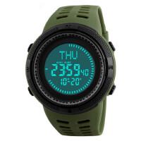 男士防水电子手表指南针倒计时世界时间多功能户外运动男表