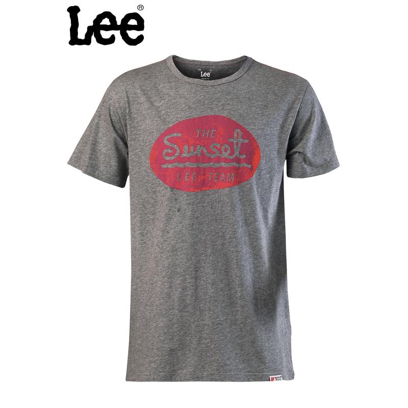 【书香节 跨店每满200减100】Lee 【断码】男士夏季复古潮流纯棉圆领t恤短袖LMY033J20B9D